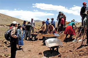 Dams and alpacas in the Peruvian Andes