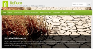 ReFARM – Resilience Framework for Agriculture and Risk Management Database