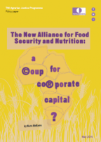 The New Alliance for Food Security and Nutrition. A coup for corporate capital?