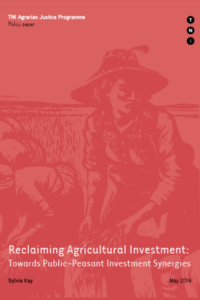 Reclaiming Agricultural Investment