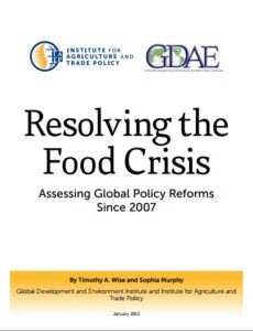 Resolving the Food Crisis Assessing Global Policy Reforms Since 2007